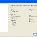 Turn on HTML designer in Visual Studio 2010