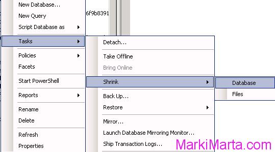 Shrink database file