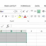 Figure 3. Merge cells in Excel