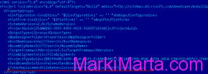 Figure 2. XML code of .csproj file