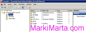Figure 5. Shared Folders