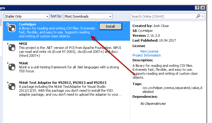 Import CSV file into DataTable C#