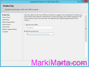 Figure 2. Update product key in SQL Server