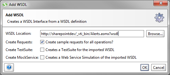 Figure 1. Add WSDL to project